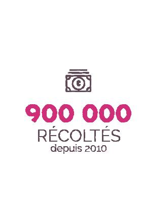 900 000 euros récoltés depuis 2010
