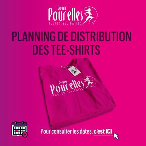 PLANNING De DISTRIBUTION DES TEE-SHIRTS